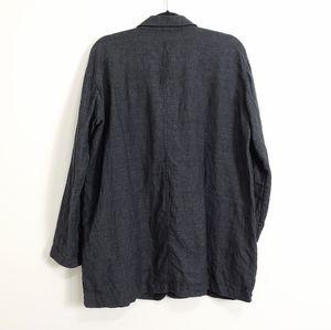 Eileen Fisher Jackets & Coats - Eileen Fisher   100% Linen Blazer Jacket S…